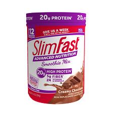 SlimFast Advanced Nutrition Protein Smoothie Mix Creamy Chocolate 11.4 oz 3/2022
