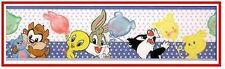 ❤  Disney BABY LOONEY TUNES REMOVABLE WALL BORDER NEW ❤