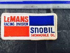 ORIGINAL LEMANS RACING SNOBIL SNOWMOBILE OIL  PATCH B