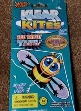 """Klear Kites See Thru Bumble Bee Kite - 42"""" Wingspan/120' Twine - Free Ship!"""
