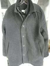 Calvin Klein men's wool coat Size L large jacket overcoat outer winter peacoat g