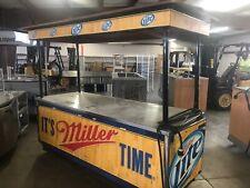 Miller Lite Beer Cart Or Stadium Serving Bar Cart W/ Sink, Refrigerator & Awning