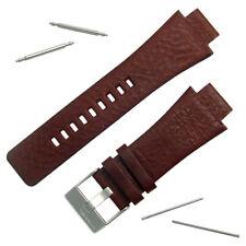 Diesel Genuine Original Bracelet de montre en Cuir Véritable S/Steel Buckle pour DZ1175