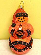 Patricia Breen Faberge Snowman Halloween Glass Glitter 2002 #2223 Ornament