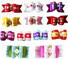 20 x Assorted Puppy Elastic Hair Bows Pet Small Dog Cat Grooming Accessories