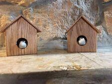 Solid Wood Decorative Indoor Birdhouses With Bird