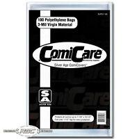"100 - ComiCare Silver Age 3-Mil Polyethylene Comic Book Bags - 7-1/8"" x 10-1/2"""
