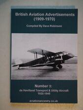 British Aviation Advertisments (1909-1970) No 3 de Havilland Transport & Utility