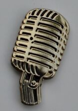 Microphone Retro Fifties Style Quality Enamel Pin Badge