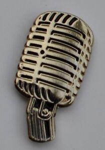 Microphone Retro Fifties Style Quality Enamel Pin Badge