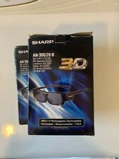 2  SHARP  TV  Rechargeable  3D  Glasses  Model AN3DG20B