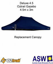4.5m x 3m BLUE Gazebo Replacement Canopy suits OZTRAIL DELUXE 4.5 Frame Mega