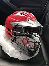 Cascade CPV-R Lacrosse Helmet Red & Silver Used