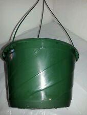 "10"" GREEN HANGING BASKETS {Set of 10} Plastic CONTEMPO SWIRL flower pots"