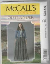 McCall's Sewing Pattern M7735 Outlander Claire Highland Costume Sz 14-22
