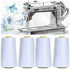 White Overlocking Sewing Machine Industrial Polyester Thread 5000 Yard