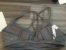 Lululemon Free To Be Zen Bra NWT sz 10 Hsl Heather Gray Grey New Rare Sold Out