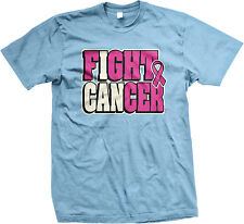 I Can Fight Cancer Survivor Breast Pink Cure Love Hope Awerness Mens T-shirt
