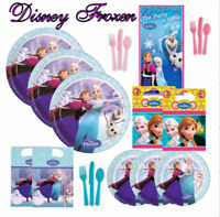 Disney Frozen Girls Pink  Party Tableware Skating Plates Cups Napkins Partybags