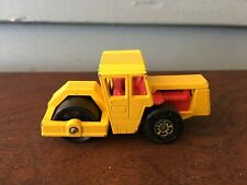 Vintage Matchbox 1978 Yellow Bomag Road Roller #72