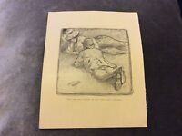 Antique Book Print - Phil May Illustration - 1899