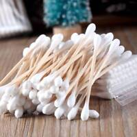 100pcs Bamboo Cotton Buds Cotton Swabs Tips Medical Ear Cleaning Wood Sticks