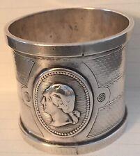 President George Washington Medallion Napkin Ring Coin Silver Original Historic