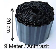 Rasenkante Beeteinfassung Beetrand 0,63€/m Rasengrenze Schwarz Anthrazit 9mX20cm