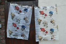 Rare Find 1950s Vintage Kitsch Plastic Kitchen Camper Curtains Floral Unused