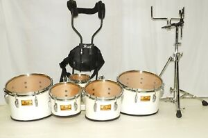 Pearl Championship Marching Tenors Quints 5 Tom Drums Stand Harness 6 8 10 12 13