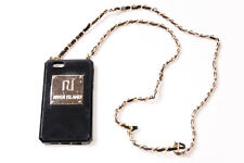Fantastic Ladies Black Protective iPhone 5/5S/SE Case w Gold Chain&Plate (S583)