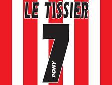 No 7 Le Tissier Southampton 1995-1997 Saints Home Football Nameset 4 shirt