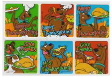 """25 Scooby Doo Thanksgiving Stickers, 2.5"""" x 2.5"""""""