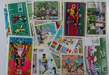 100 Football stamps in packet  (140)