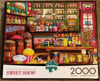 "Buffalo 2000 Piece Puzzle COMPLETE  ""Sweet Shop""  38.5"" x 26.5"" #92000"