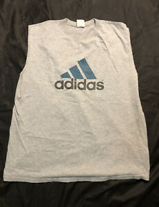 vintage 90's adidas tank top t shirt xl usa sleeveless