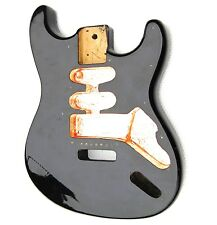 OEM-Gitarrenbody-gebraucht-Schwarz-Klebefolie-Kupfer