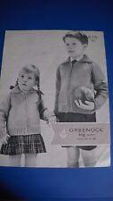 SCOTCH LANA shop Greenock Bambino Cerniera Giacca Knitting Pattern 815