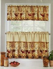 Marino Brothers Fat Chef Pizza Pasta Curtains 24L Tier and Valance Set