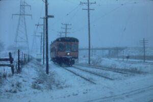 SNOWING  35mm SLIDE - TROLLEY, TRAIN, BUS, TRAM - ORIGINAL ?
