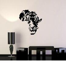 Tiger Afrika Wandkarte Wandtattoo Wallpaper Wand Schmuck 57 x 67 cm