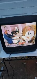 Panasonic PV-M2038 TV VCR VHS FM Radio Combo Retro Gaming With Remote. 1998