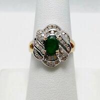 Showy! 1.50ctw Genuine Emerald Diamond 18k Gold Ring (6855)