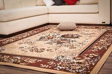 Tapis Classique Designer Floral Plat floral NEUF PROMOTION marron beige 80x250