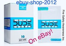 DUDE WIPES QUICK SHOWER Body Wipes 10 Pack Box Individually Wrapped 🚿🚒🚨
