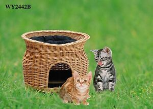 Classic Cute Cattery Two Storey Cat's Bed with Cushions Dog Bed Cat Bed Cat Cage