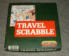 HOLIDAY TRAVEL SCRABBLE 100% COMPLETE TILES TILE HOLDERS BOARD RULES