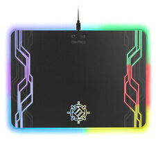 ENHANCE Large Hard Surface LED Gaming Mouse Pad - 7 RGB Light Up Modes