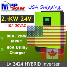 MPP SOLAR Hybrid 2400w Pure Sine Wave Power Inverter with MPPT Solar Charger