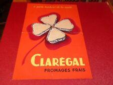 [ART ET PUBLICITE] GOUACHE ORIGINALE ANNEES 1950 FROMAGE CLAREGAL 60X40 Projet